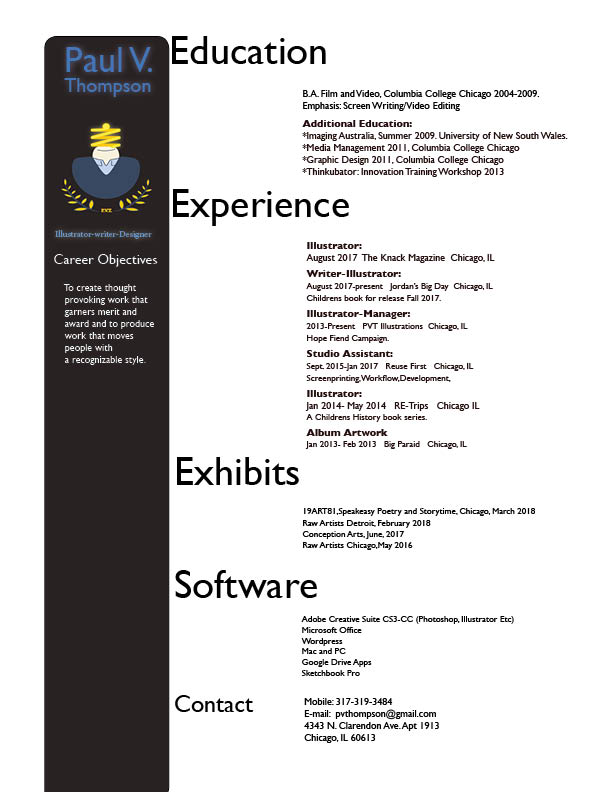 Resume \u2014 PVT Art