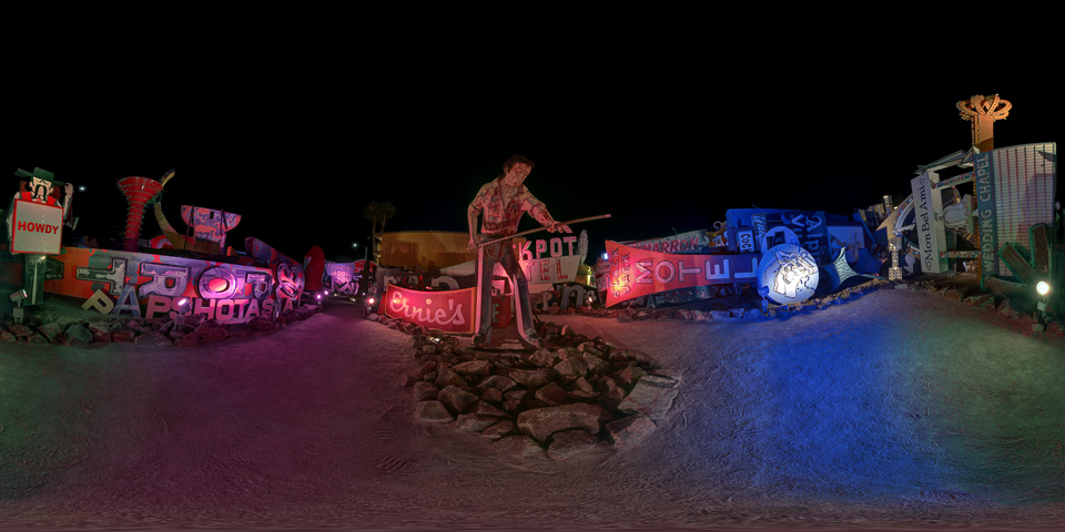 Toy Car Wallpaper Las Vegas Neon Museum 360 Night Panorama Joe Reifer