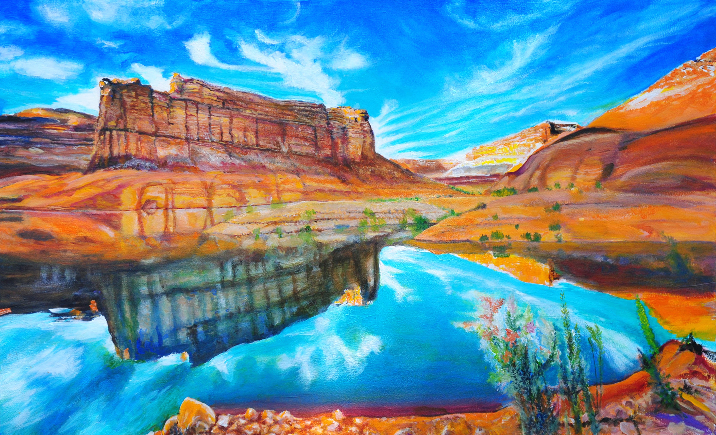 Wallpaper Full Hd 1080p 3d Grand Canyon Lake Powell Reflections By George Porter