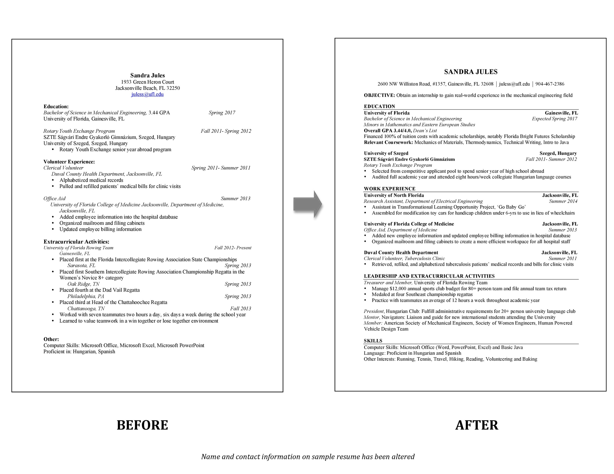 Services \u2014 Resume Recharge - resume for interview sample