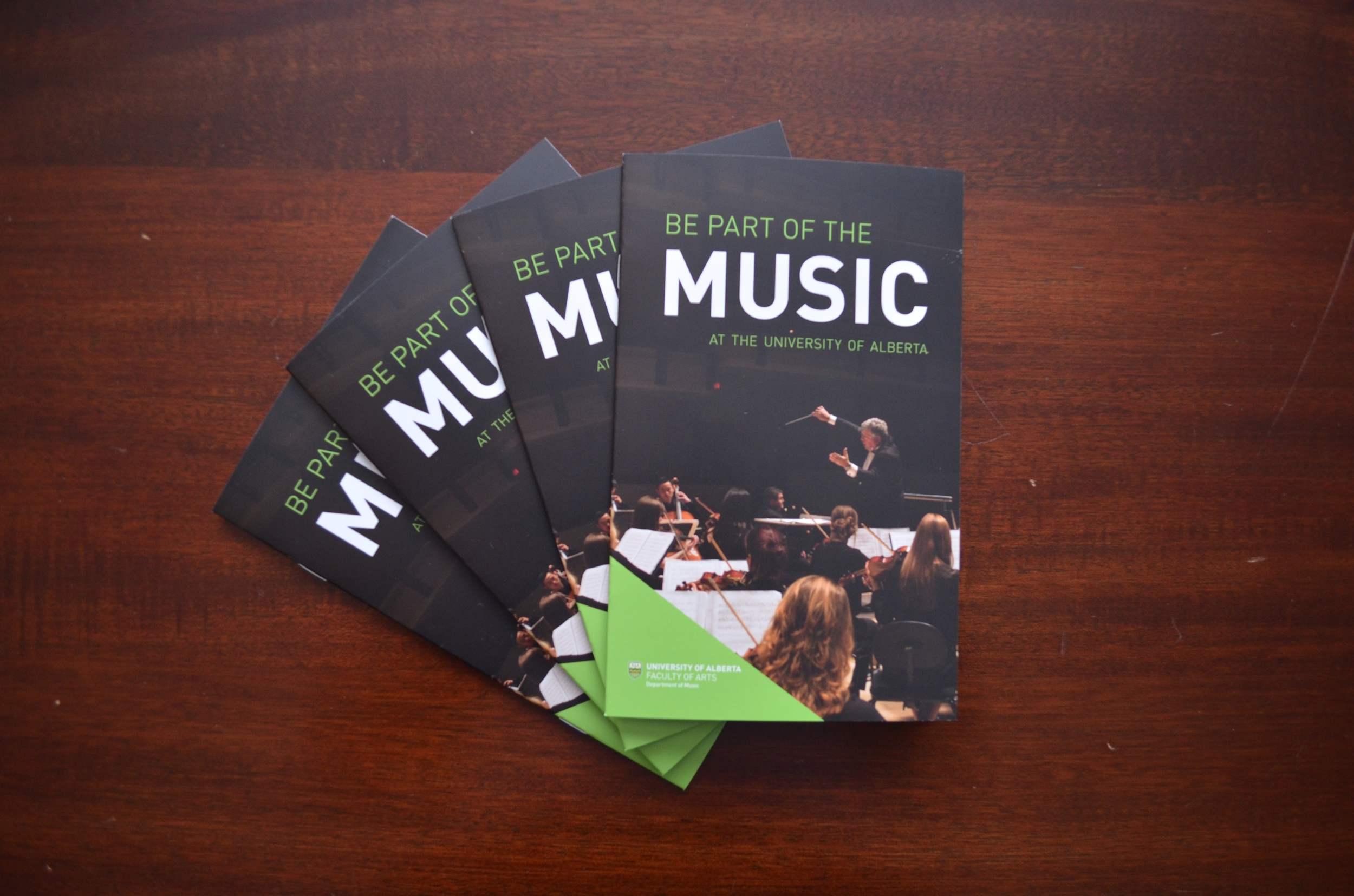 Alexa Guse Visual Communication Design \u2014 UAlberta Music Brochures