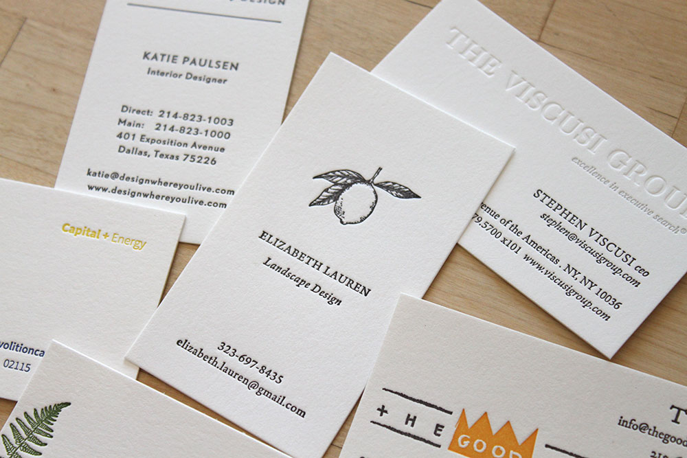 Business Cards \u2014 Letterpress Wedding Invitations ~ Moontree Letterpress