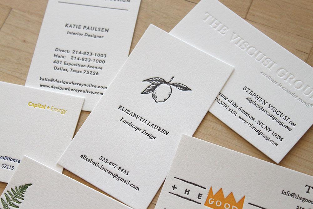Business Cards \u2014 Letterpress Wedding Invitations ~ Moontree Letterpress - letterpress business card