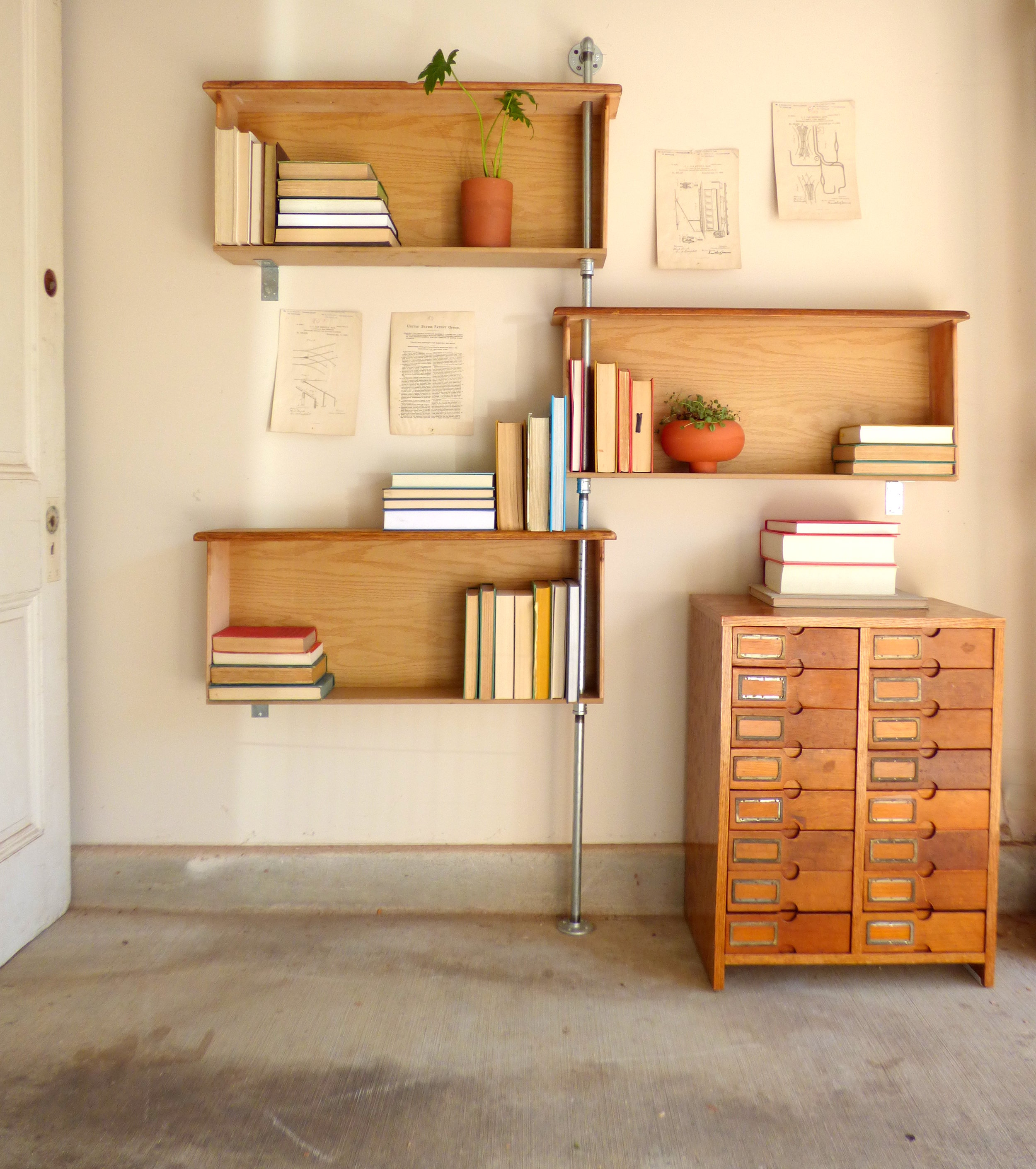 industrial book shelf nice furniture with also bookshelf on wheels 5