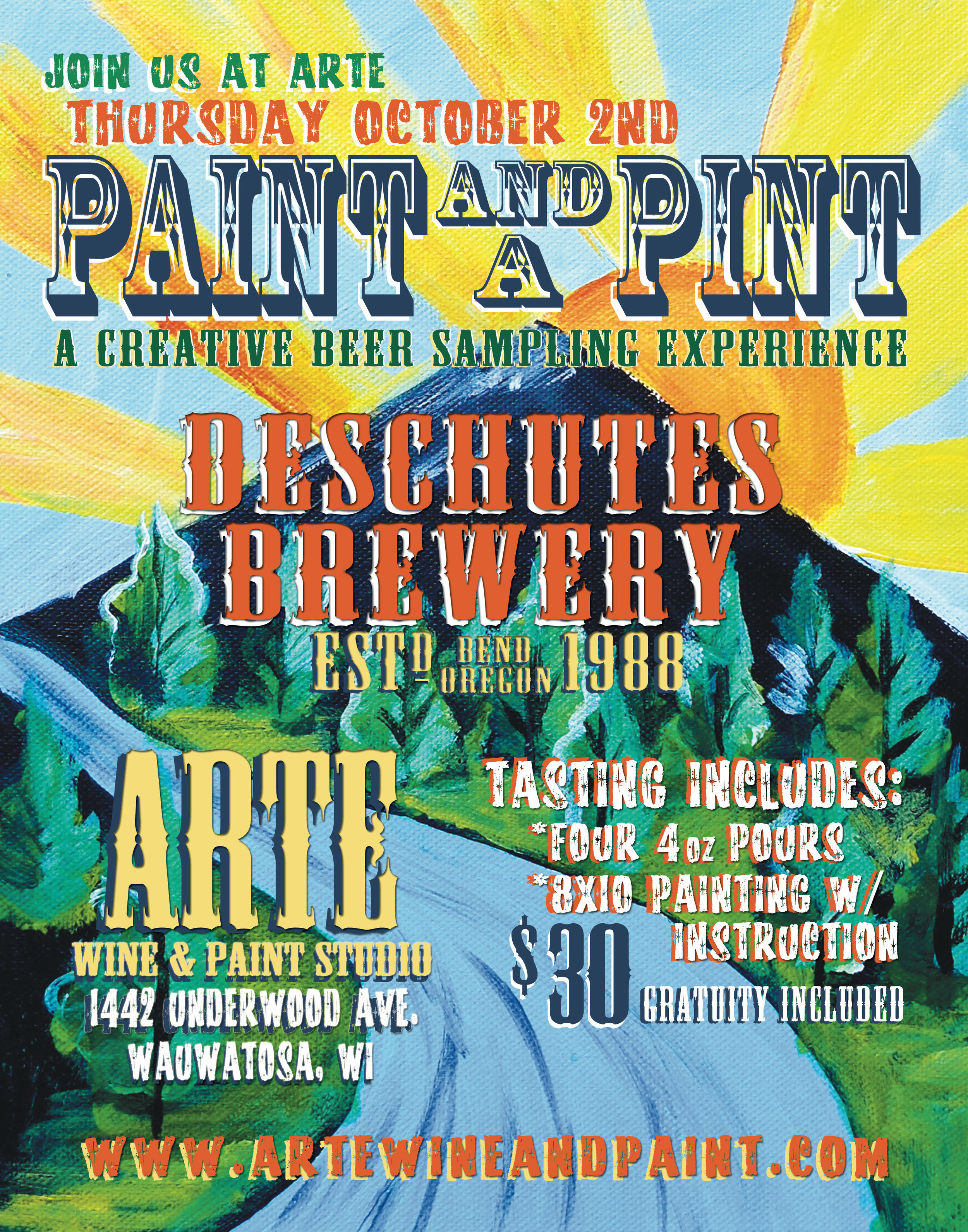Arte Wine And Paint Wauwatosa Paint And A Pint A Creative Beer Tasting Event Arté