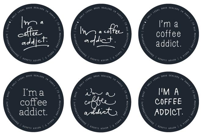 Dose Dealer de Café Coffee Addict Stickers \u2014 DESIGN X FIVE