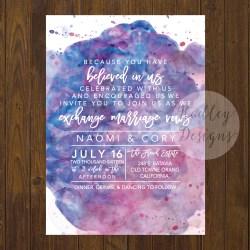 Small Crop Of Watercolor Wedding Invitations
