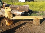 Chainsaw Carved Eagle Benches