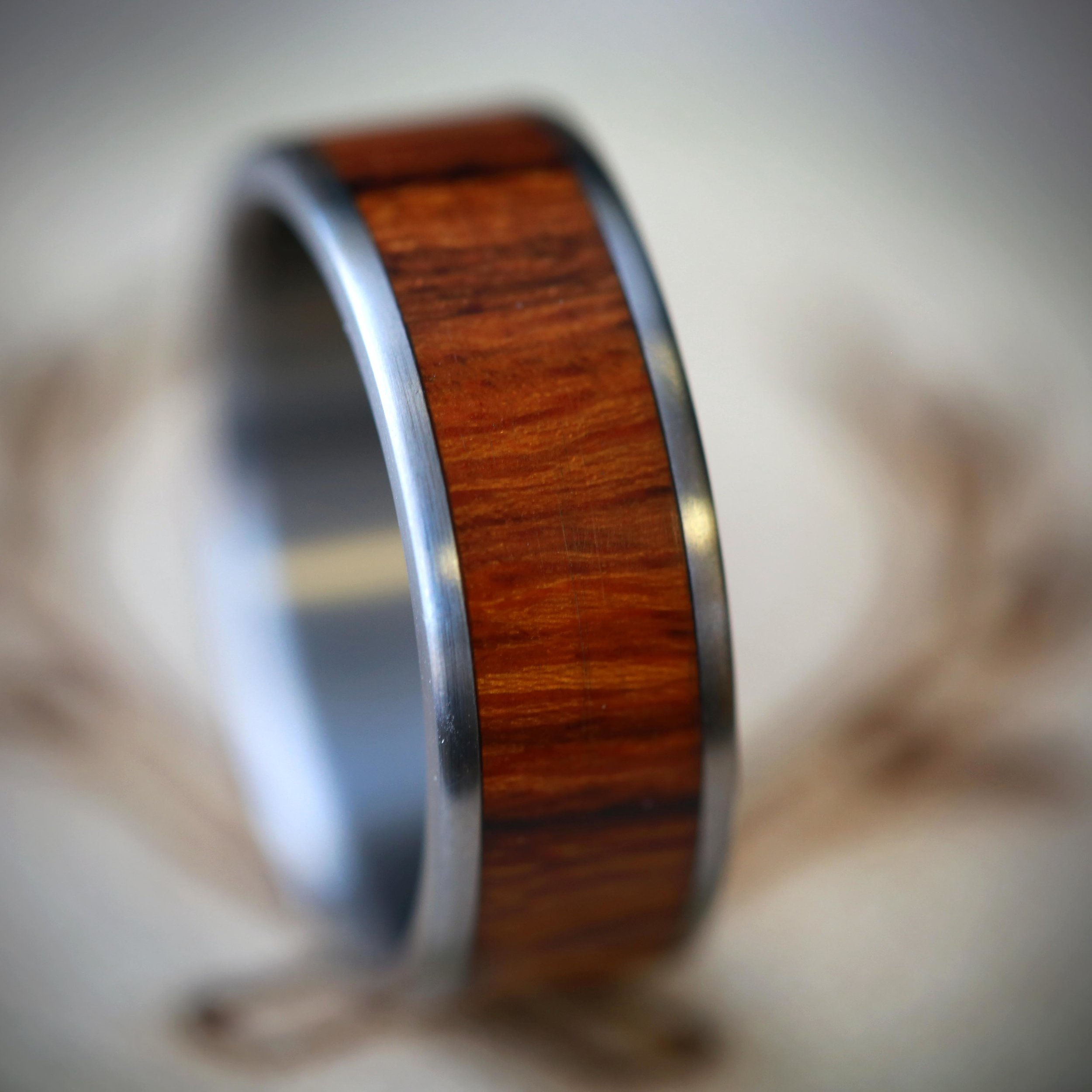 mens wood wedding band mens wood wedding bands MEN S WOOD WEDDING BAND available in titanium silver or gold STAGHEAD DESIGNS