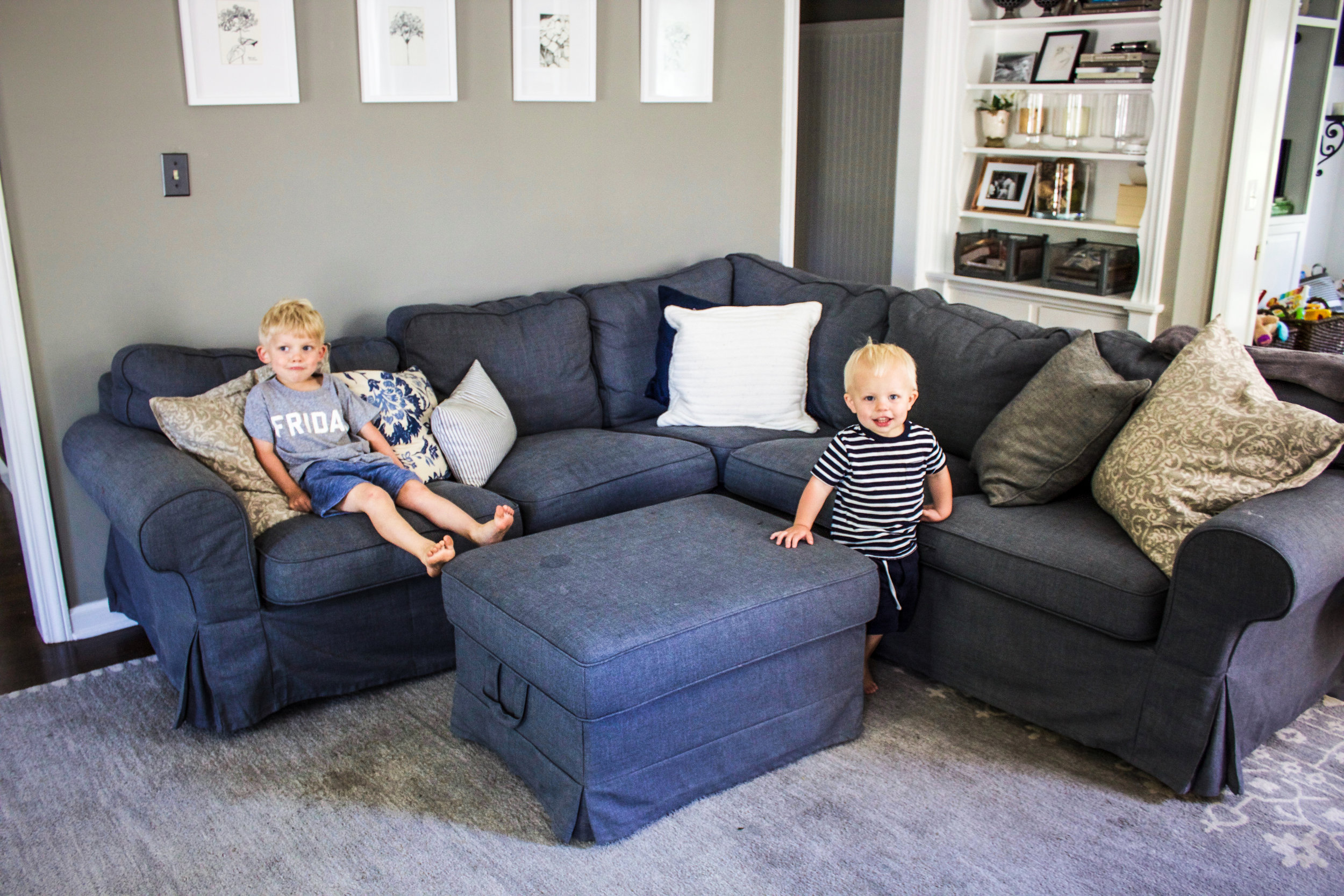 Ektorp Sofa Dark Grey Family Room Makeover Phase Ii New Ikea Ektorp Sectional Couch