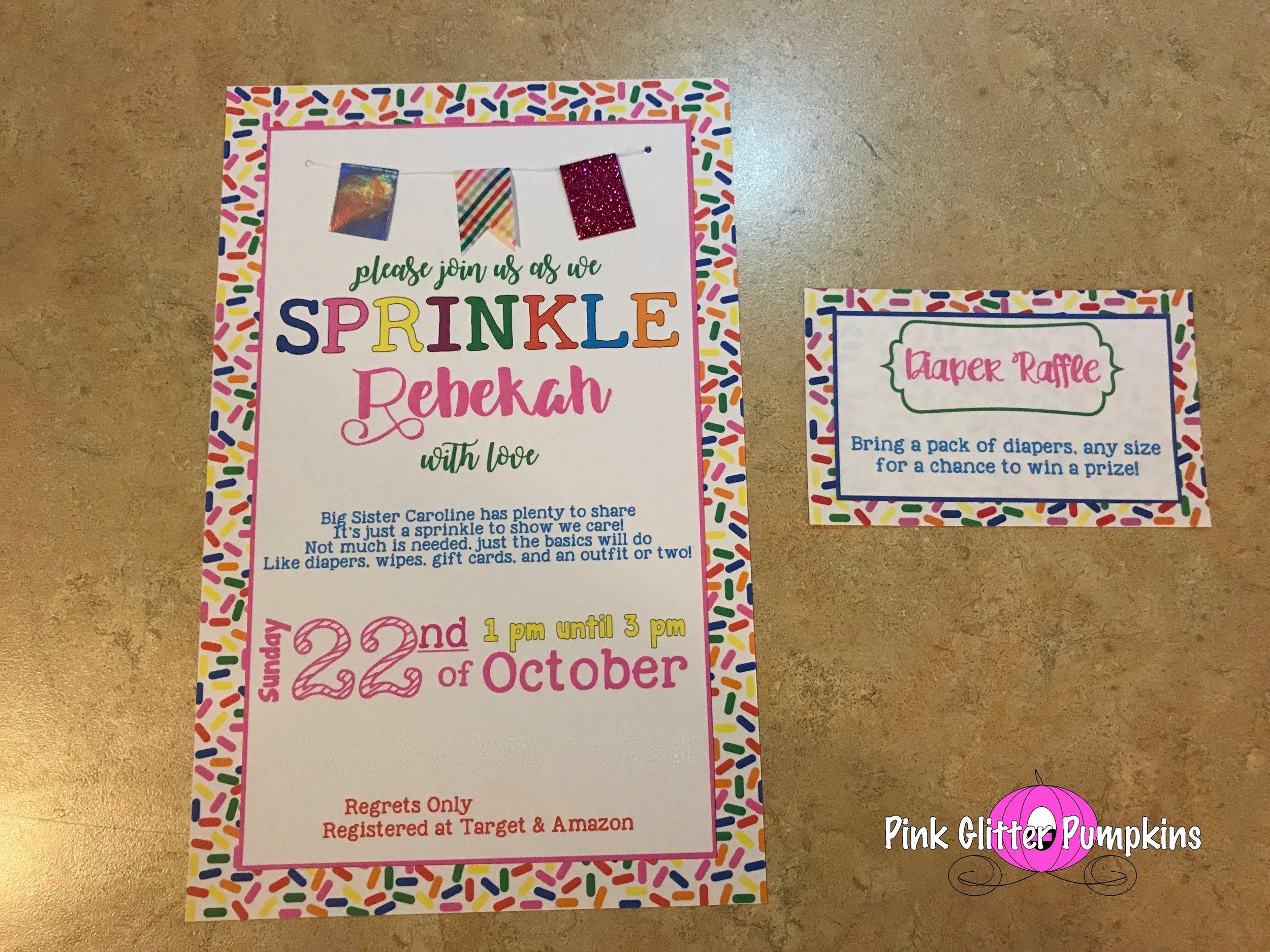Diaper Raffle \u2014 Pink Glitter Pumpkins