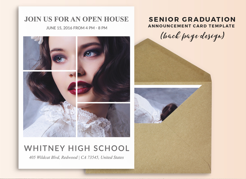 Senior graduation announcement card template - Tory
