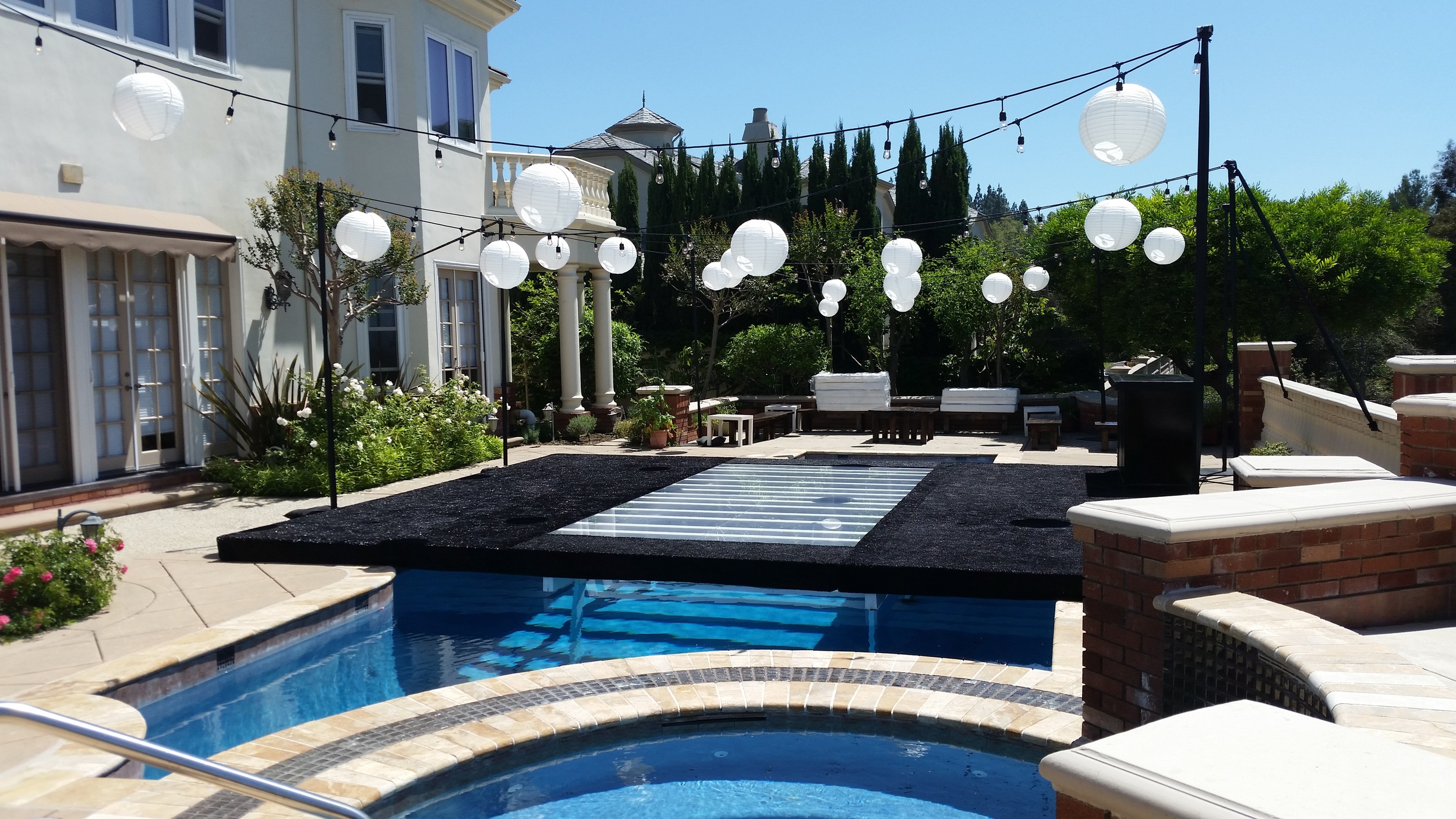 Jacuzzi Pool Covers Party Rentals Los Angelespool Cover Rentals Opus Event Rentals