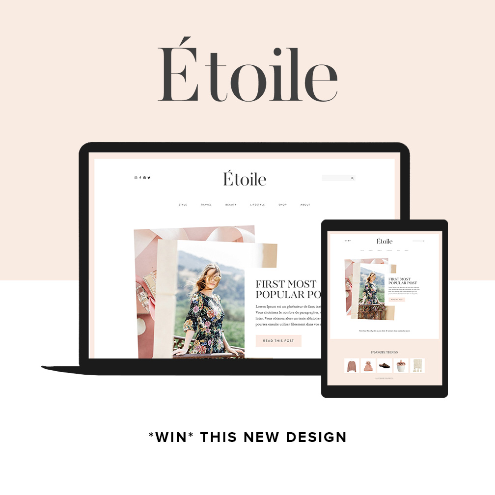Live Hq The New Etoile Website Template Is Live In The Shop Promise Tangeman