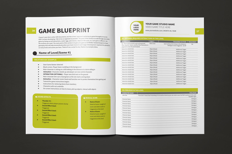 Game Design Document Template \u2014 Lauren Hodges Illustrator