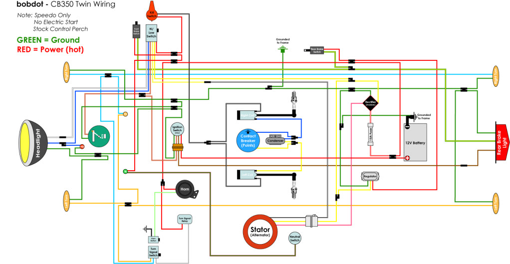 1972 Cb350 Wiring Diagrams Wiring Diagram