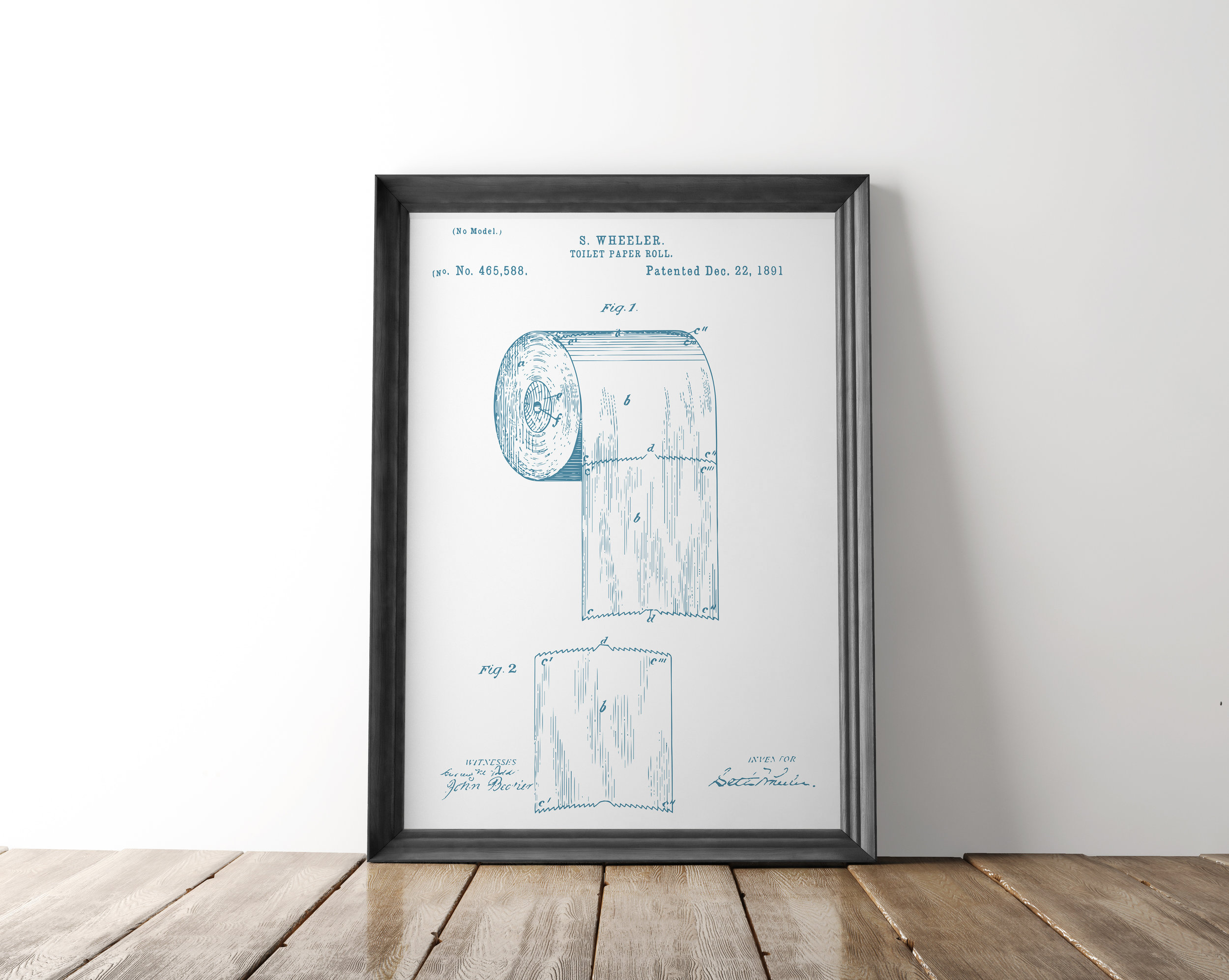 Toilet Wall Art Toilet Paper Patent Poster Toilet Paper Patent Art Blueprint Art Patent Wall Art Bathroom Patent Print Bathroom Art