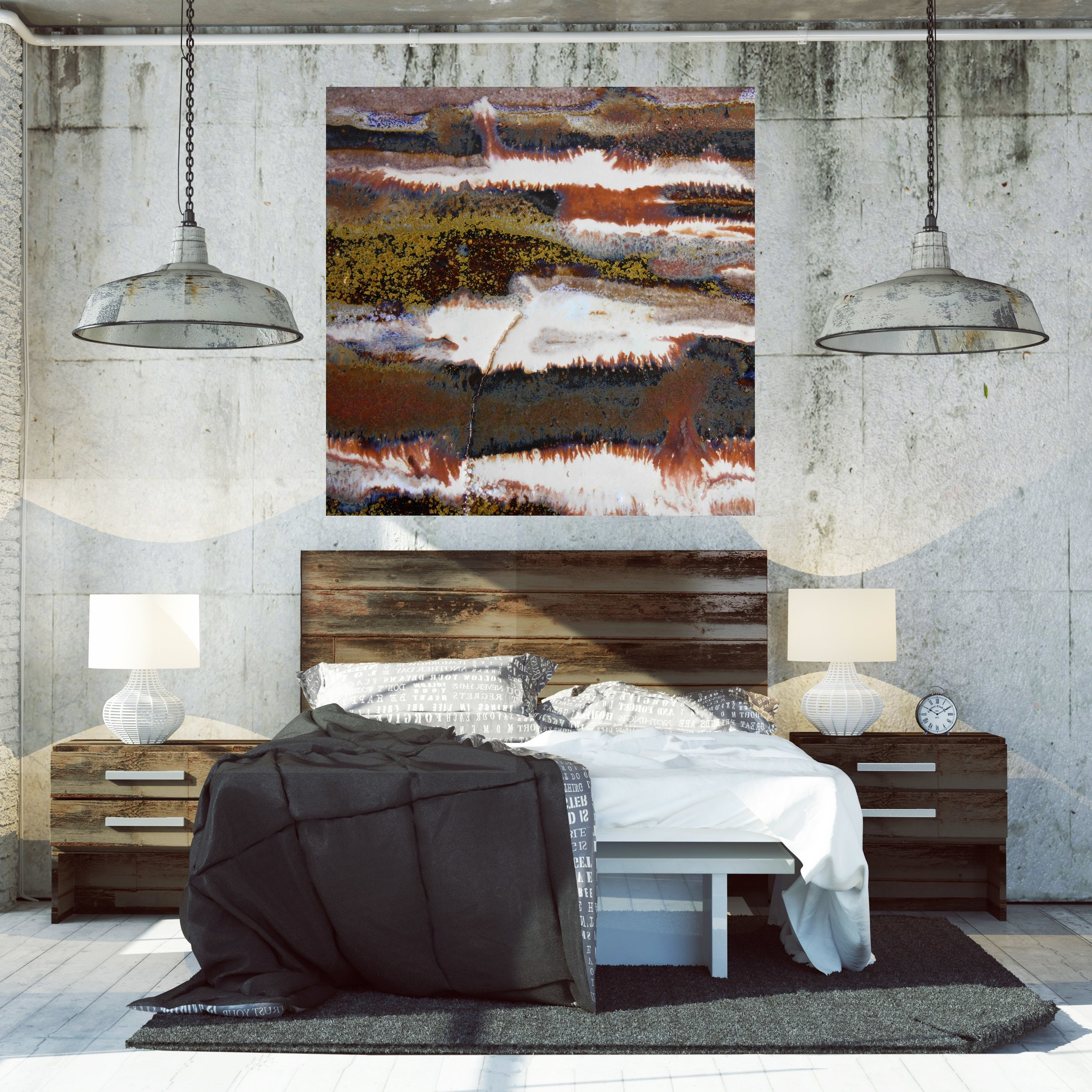 Black And White Artwork For Bedroom How To Make Your Industrial Loft Beautiful With Oversized Artwork