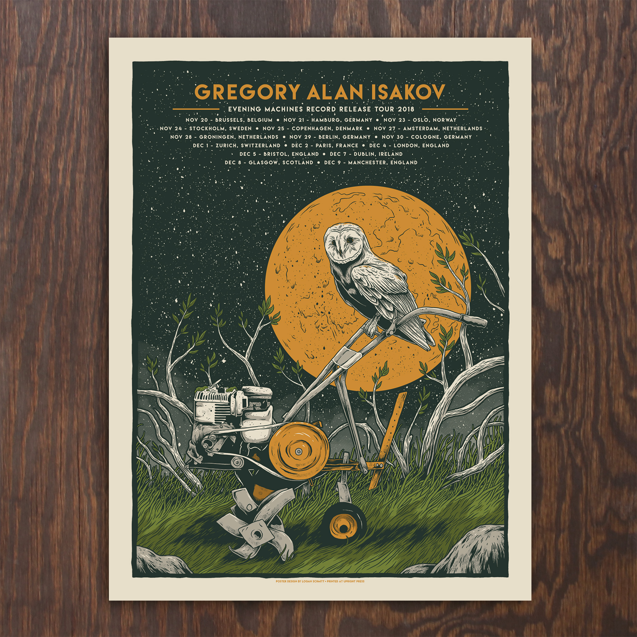 Poster Shop Berlin Gregory Alan Isakov Fall Tour Poster Europe