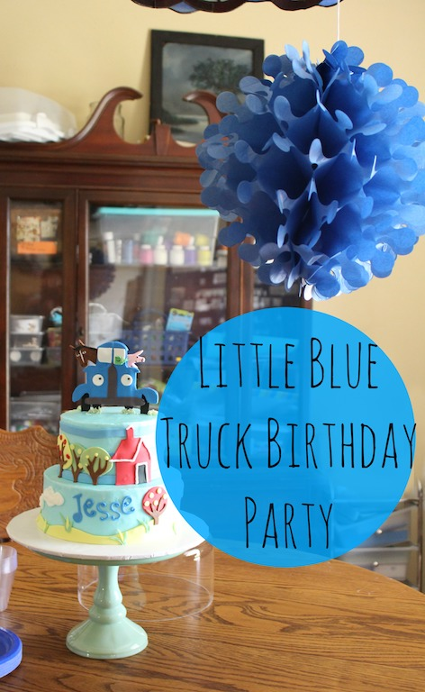 A peek into our Little Blue Truck First Birthday Party \u2014 Frugal Debt - blue and green birthday party