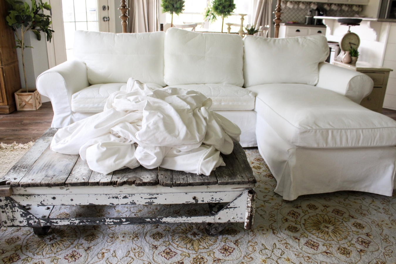 Ektorp Slipcovers How The Heck I Maintain White Furniture With Four Kids A Review