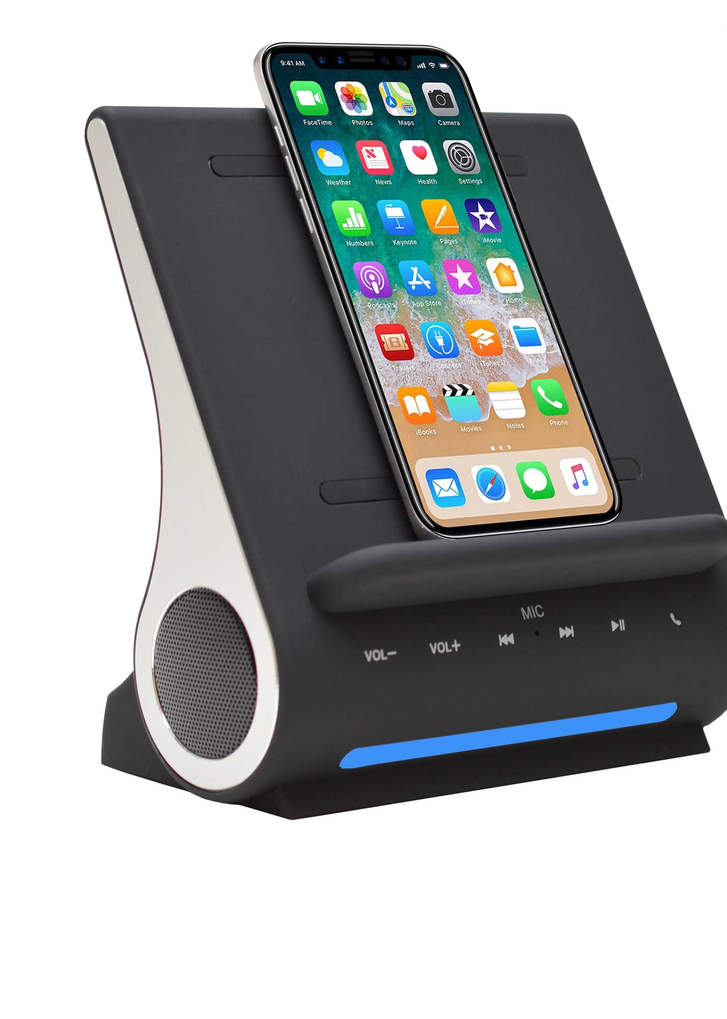 Iphone Cordless Charger The Dockall D100 Is A Good Combo Qi Wireless Charger And Speaker