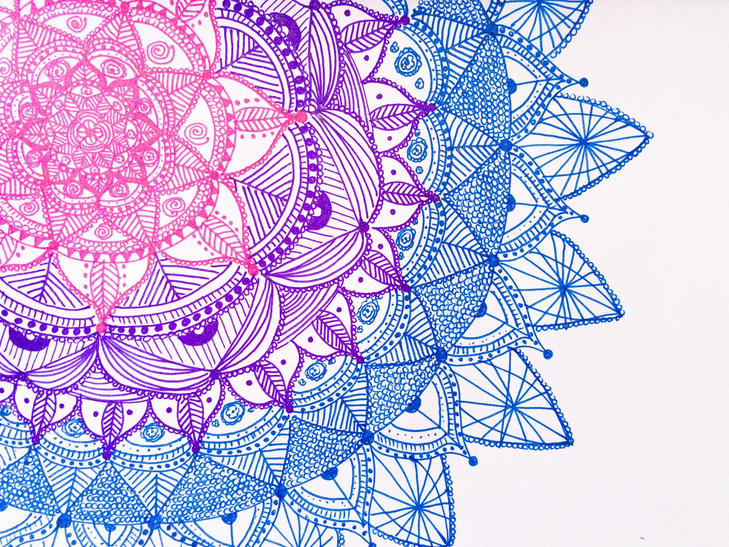 Violet Flower Hd Wallpaper A Mandala A Day Adriana Porras