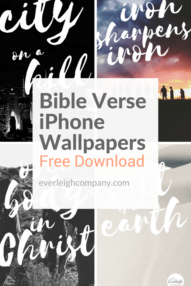 Bible Verse iPhone Wallpapers [Community Edition] — The Everleigh company