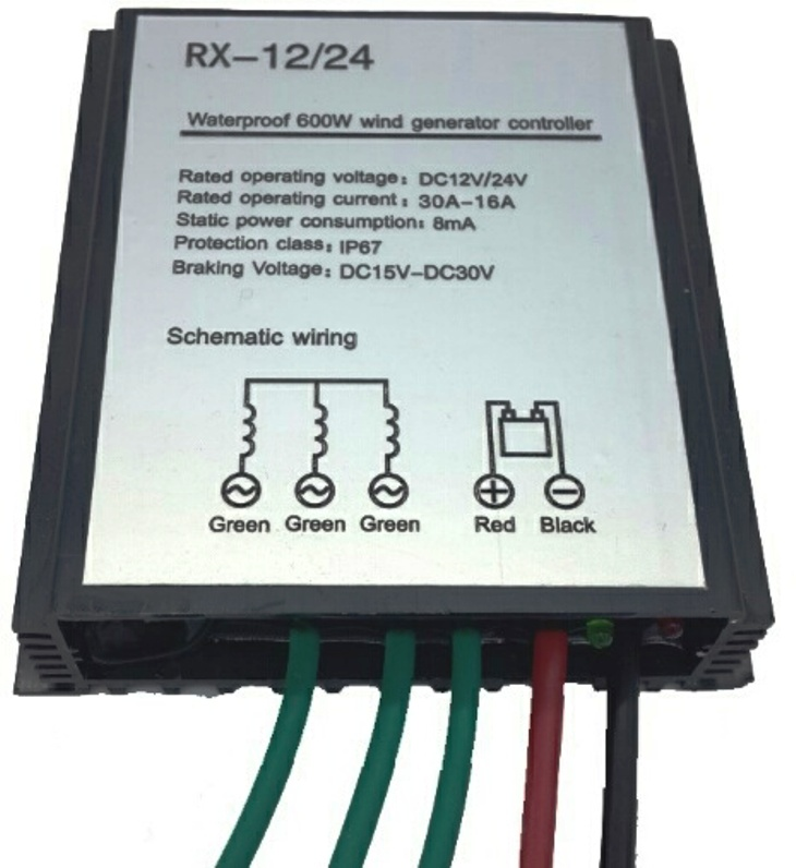 RX 600w Wind Energy Charge Controller WindSoleil Solar and Wind Energy