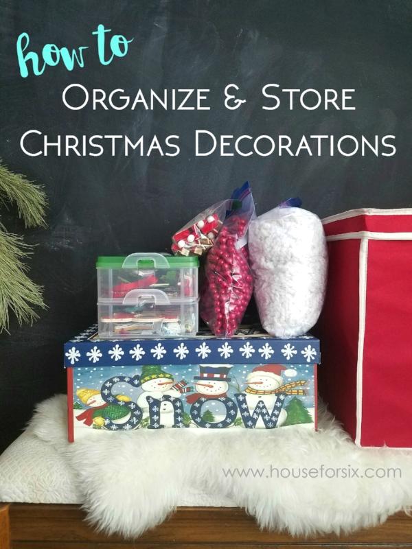 Organizing and Storing Christmas Decorations u2014 House For Six - how to store christmas decorations