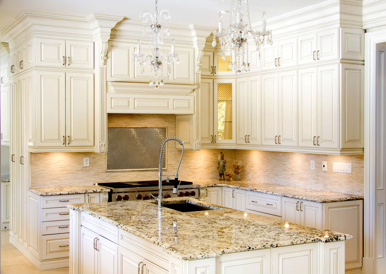 Granite Kitchen Countertops With White Cabinets Central Granite Repair
