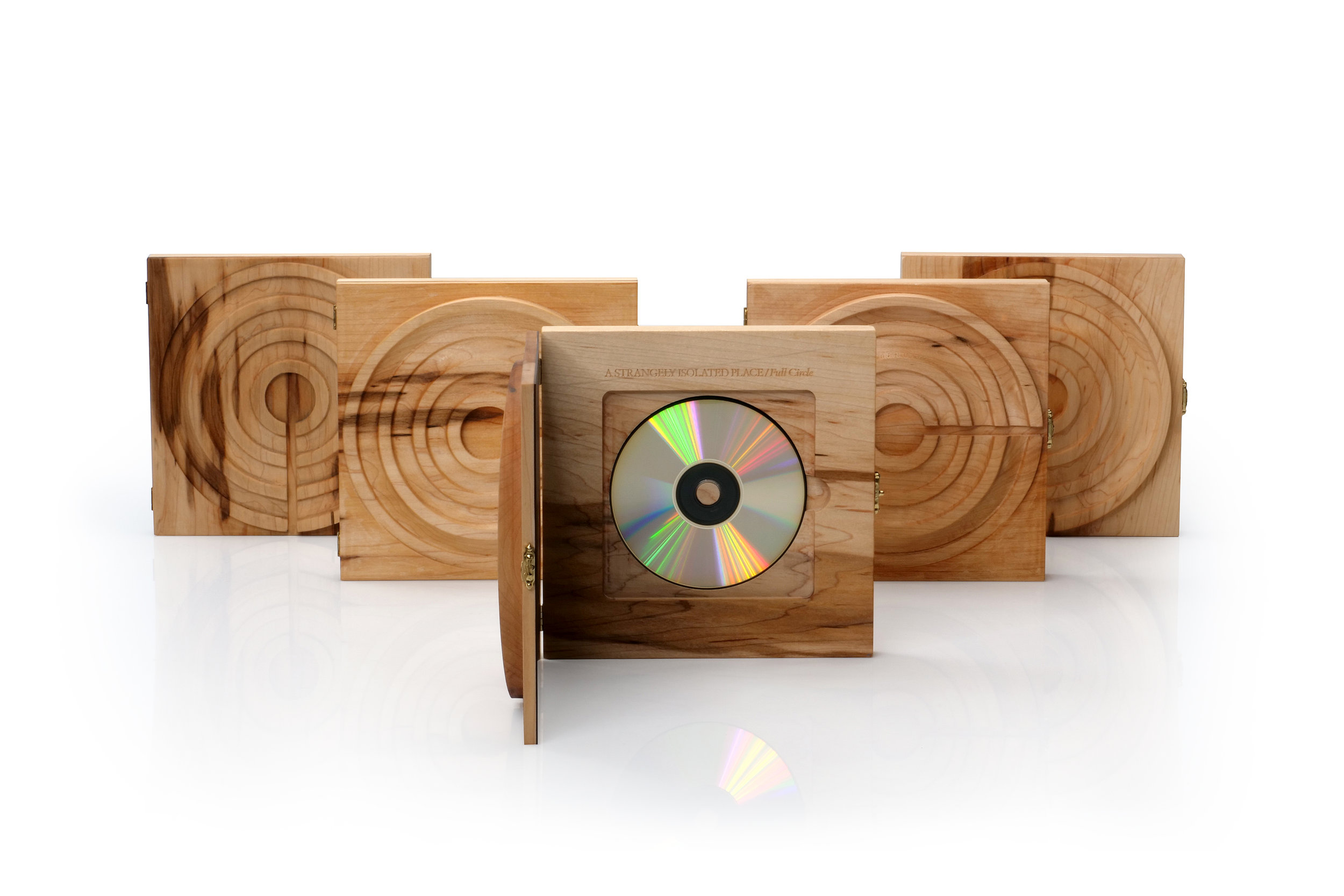 Full Circle Handmade Wooden CD Case by Kevin Bryce \u2014 A STRANGELY