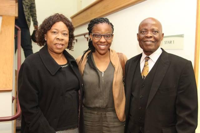 Uzo with her parents