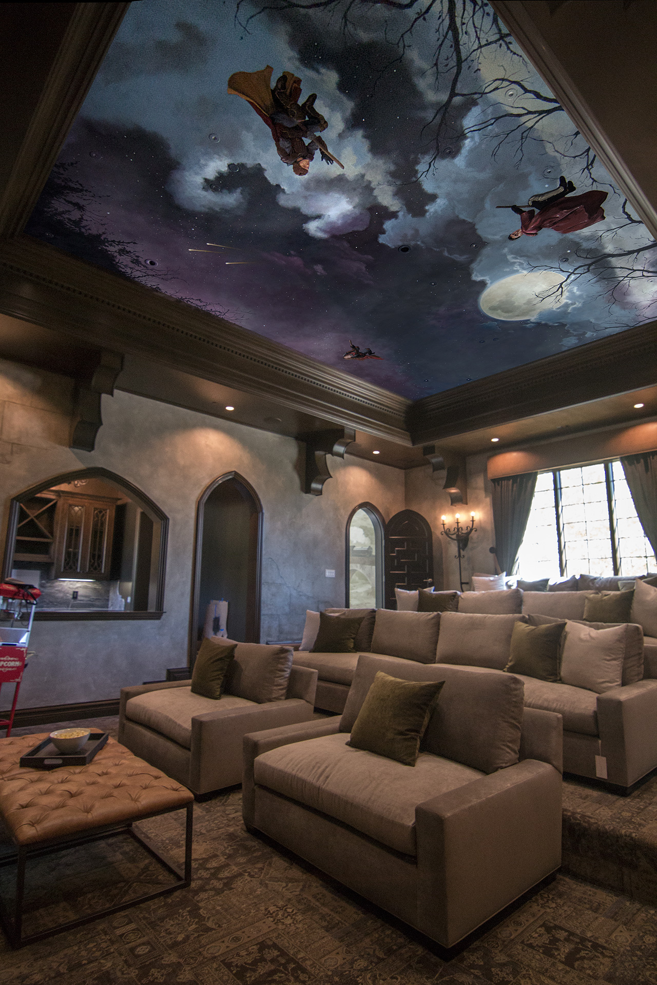Dining Room 3d Wallpaper Hattas Public Murals Ceilings Los Angeles Cahttps