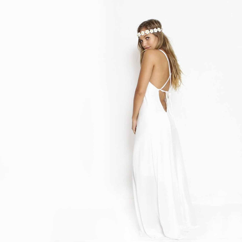 12 etsy boho wedding dresses with spaghetti straps etsy wedding dresses Etsy boho wedding dress