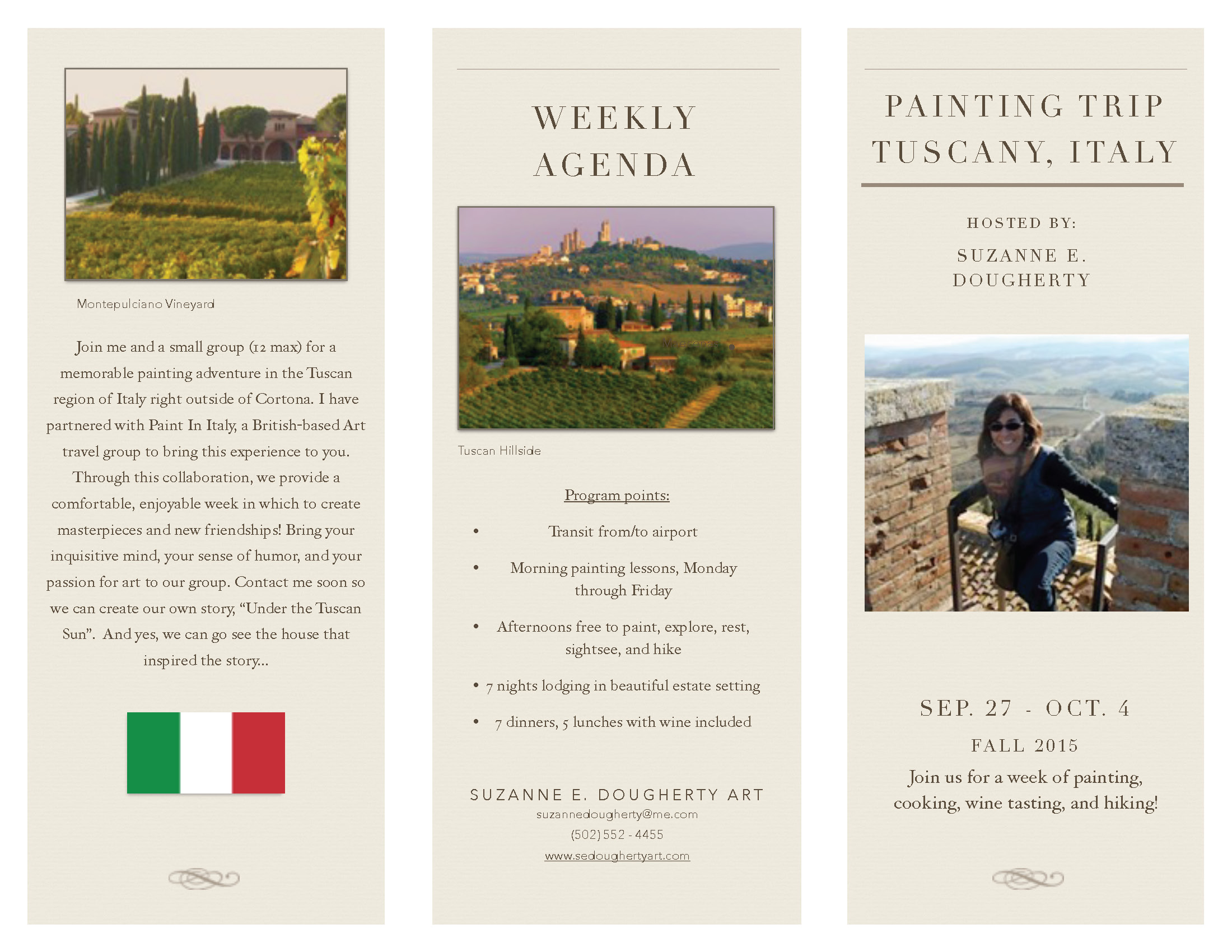 Painting Trips- Tuscany Brochure \u2014 Suzanne Enriquez Dougherty
