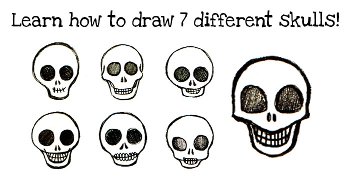 How to Draw Skulls Easy Step-by-Step Instructions for Drawing Seven