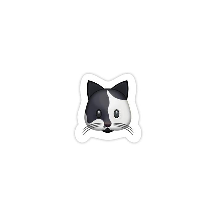 Cow Cat Emoji Sticker \u2014 ericadanger