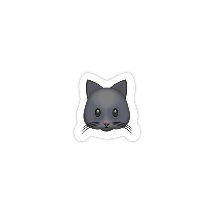 Black Cat Emoji Sticker \u2014 ericadanger