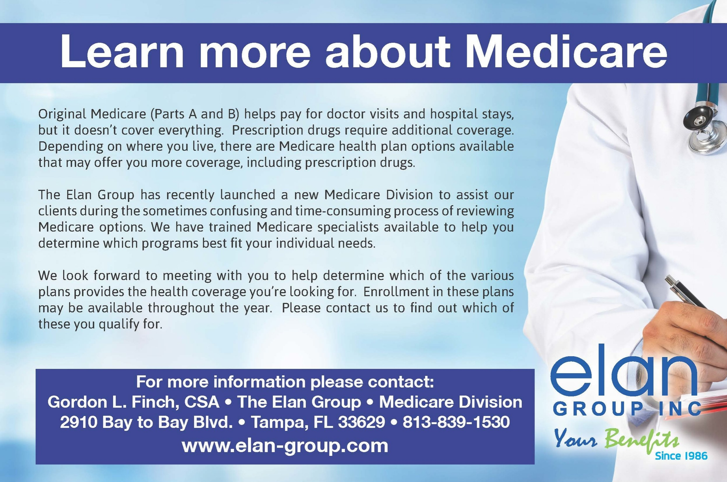 Medicare Services \u2014 Elan Group Inc