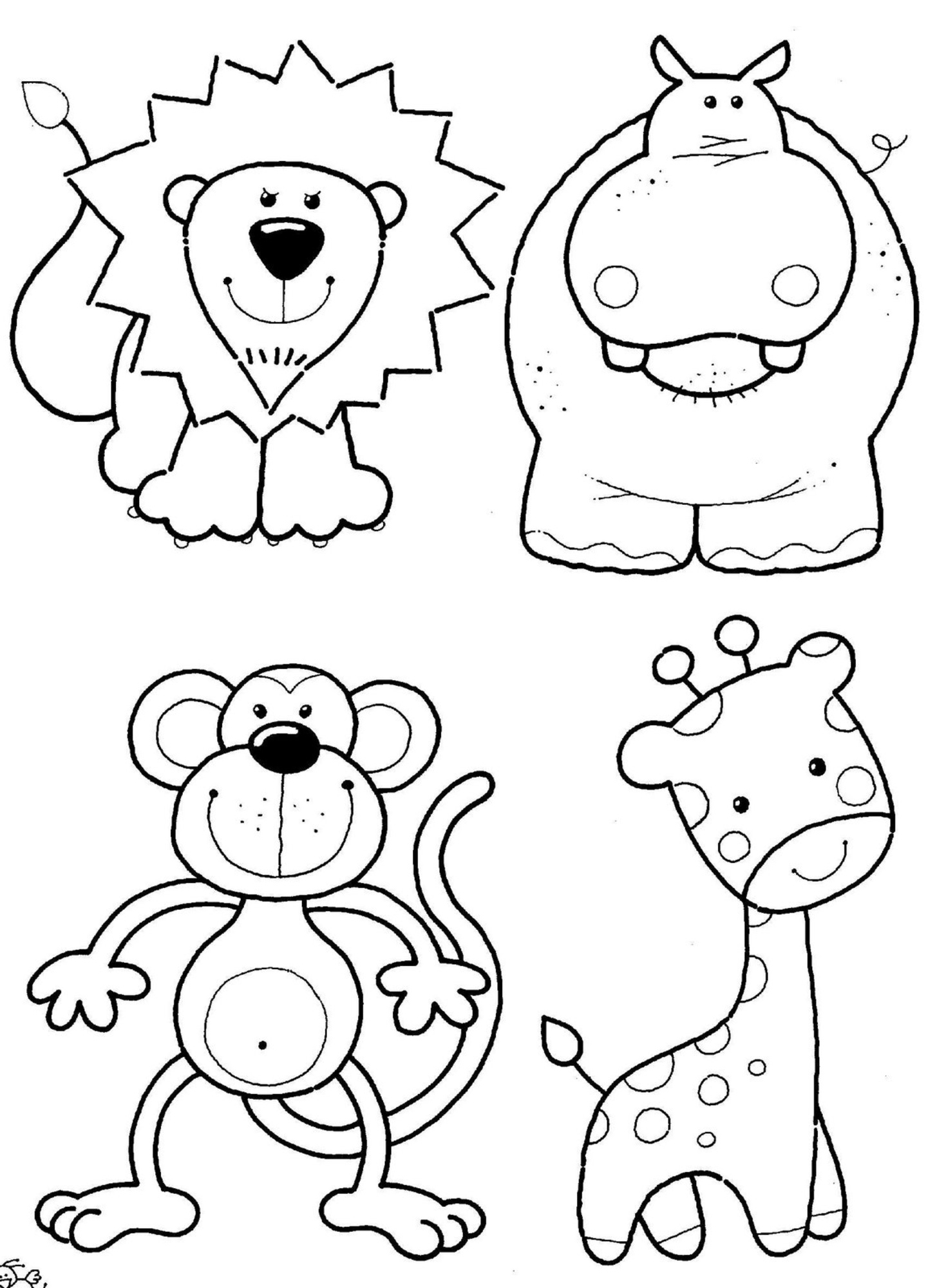 realistic animal coloring pages feed