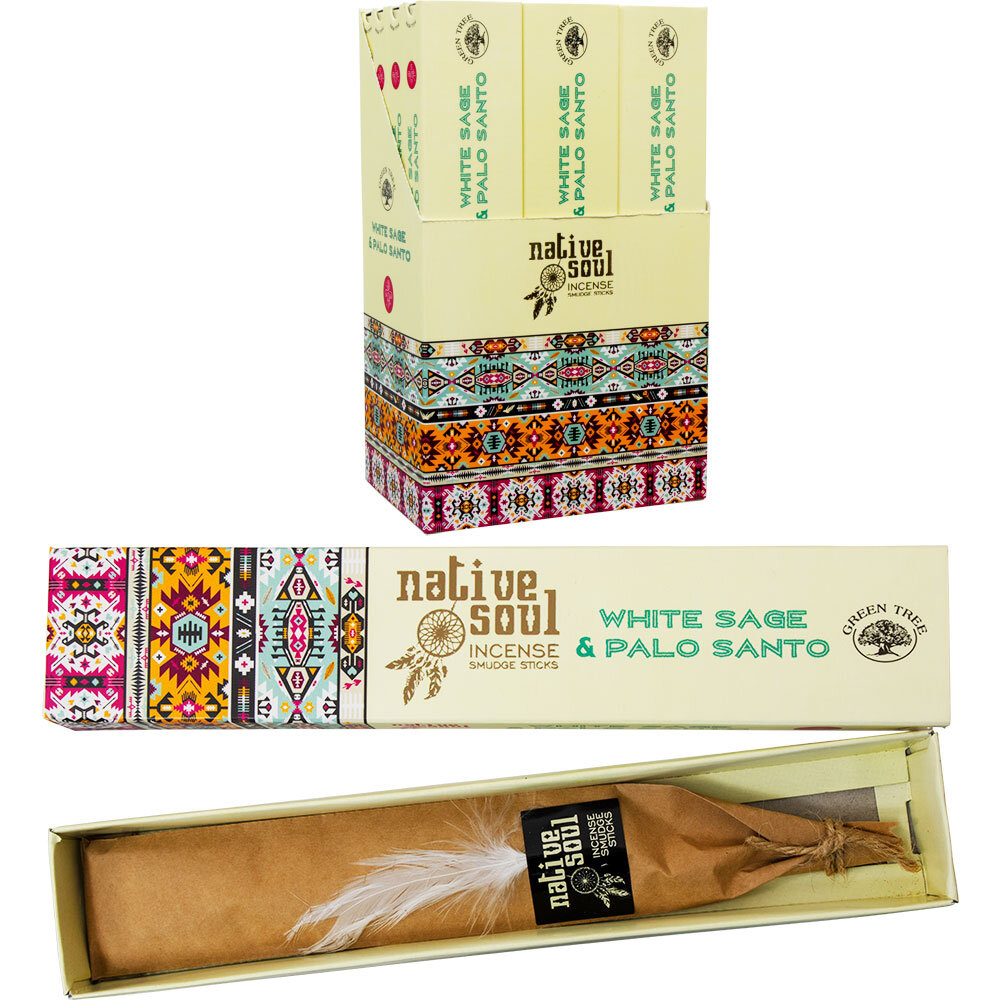 White Sage Paint White Sage And Palo Santo Green Tree Incense 15 Gr