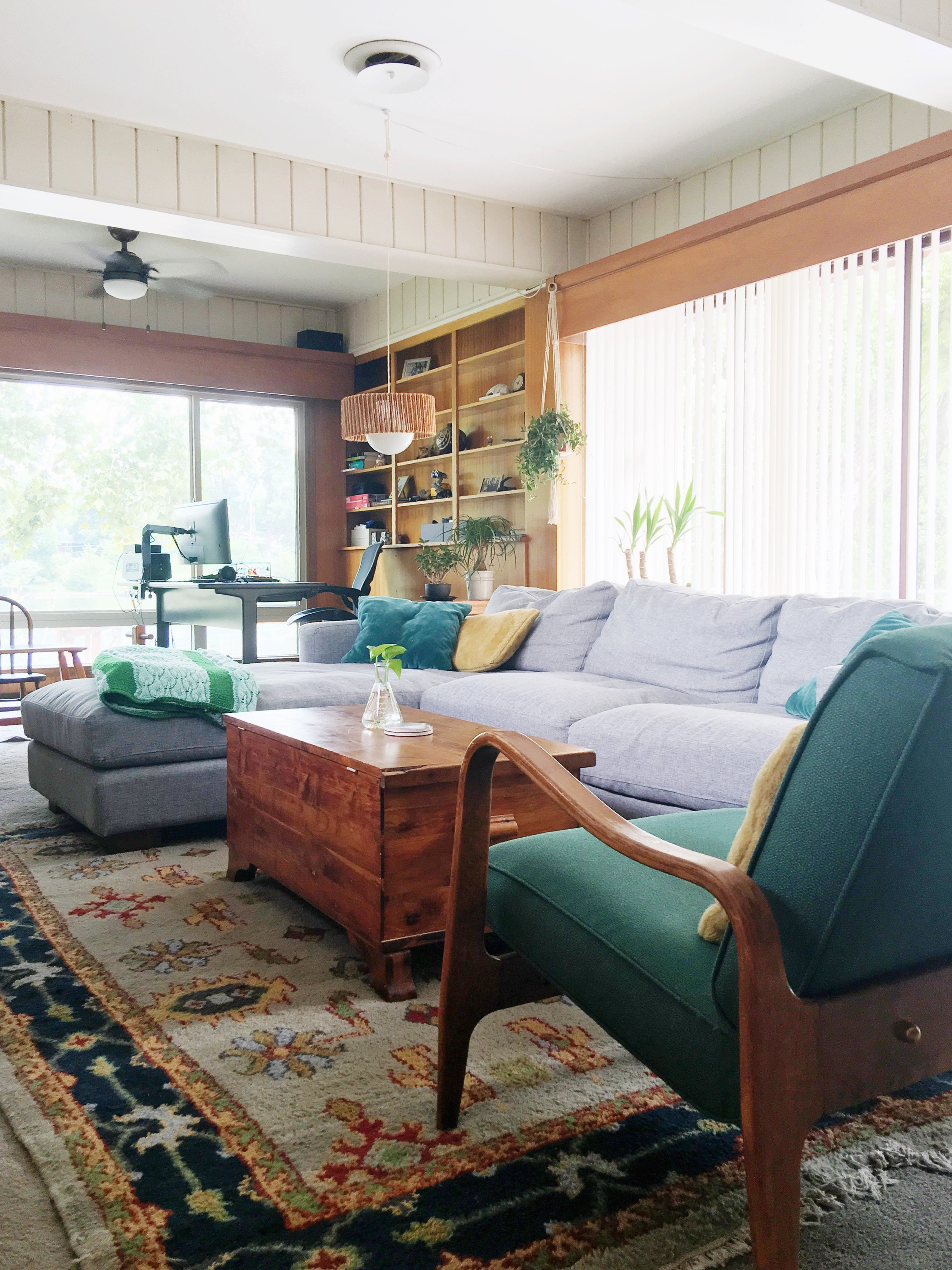Mid Century Cozy Collected Mid Century Modern Den Embracing Dated Original