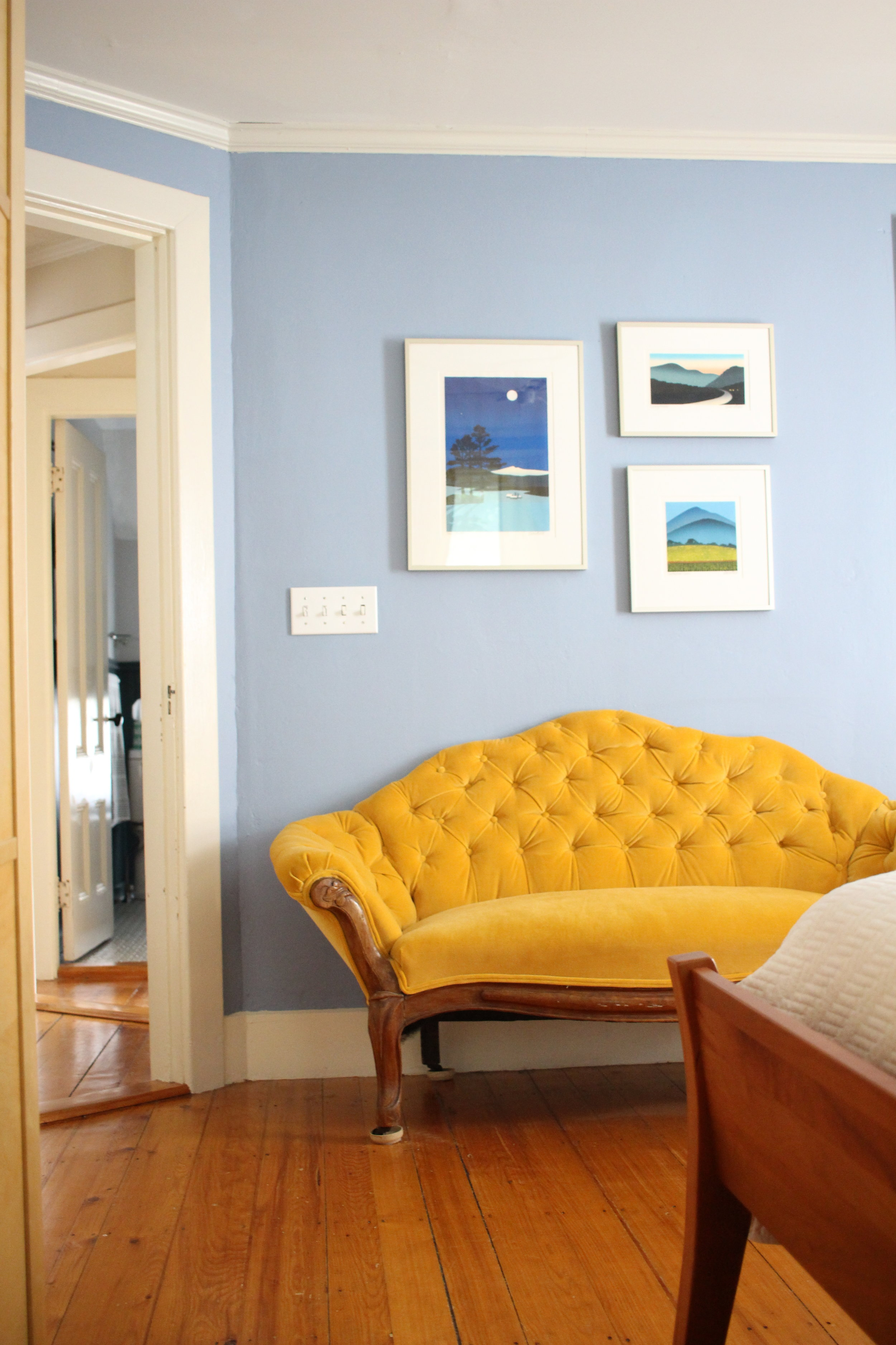 Little Couch For Bedroom We Ask Little Yellow Couch Style Matters Podcast Hosts Why Style