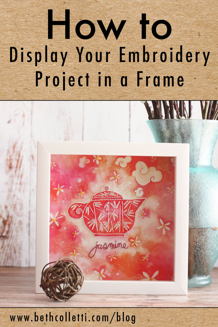 How To Frame Pictures How To Display Your Embroidery Project In A Frame Beth Colletti