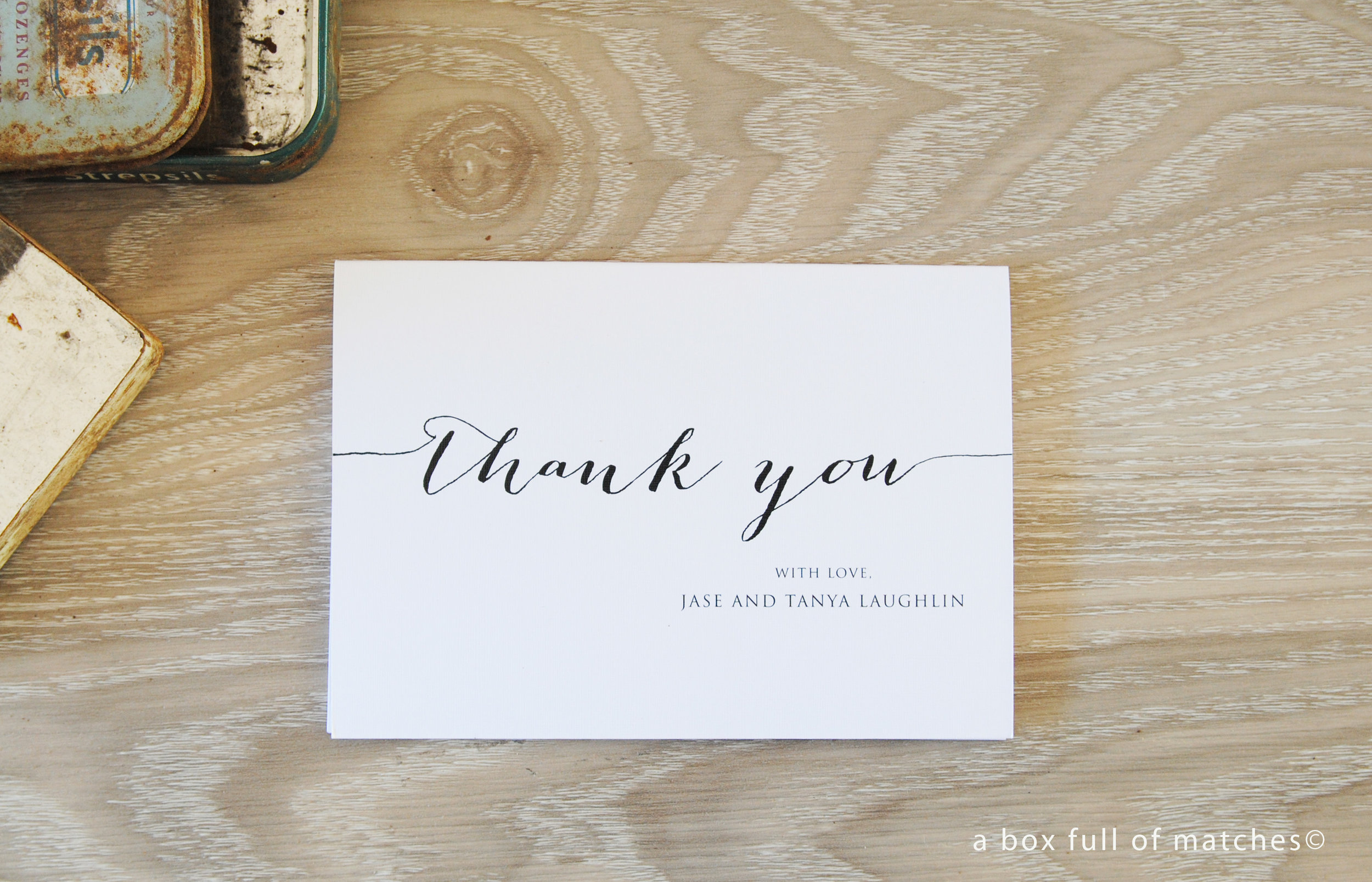 A6 Landscape Folded Thank You Cards - Created for you \u2014 A Box Full