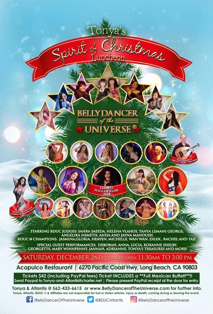Tonya\u0027s Spirit of Christmas Luncheon \u2014 LA Raqs - christmas luncheon flyer