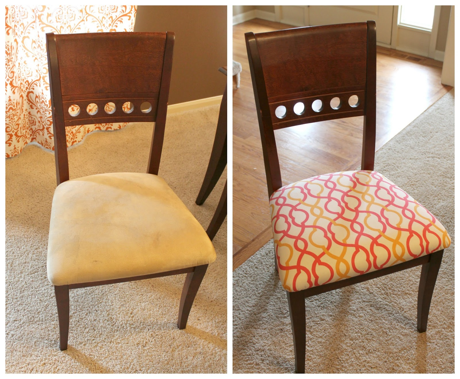 Dining Room Chair Fabric How To Recover A Dining Room Chair Tessie Fay