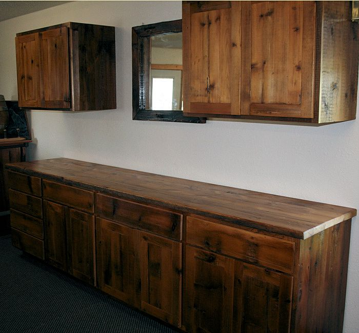 Different Types Of Kitchen Islands Reclaimed Barnwood Kitchen Cabinets — Barn Wood Furniture