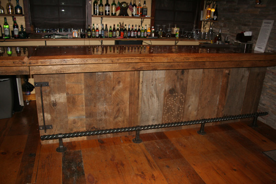 Rustic Bar Stools Barnwood Bar — Barn Wood Furniture - Rustic Furniture